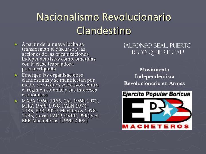 Nacionalismo Revolucionario Clandestino