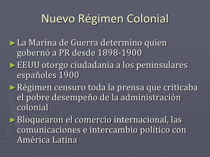 Nuevo Régimen Colonial