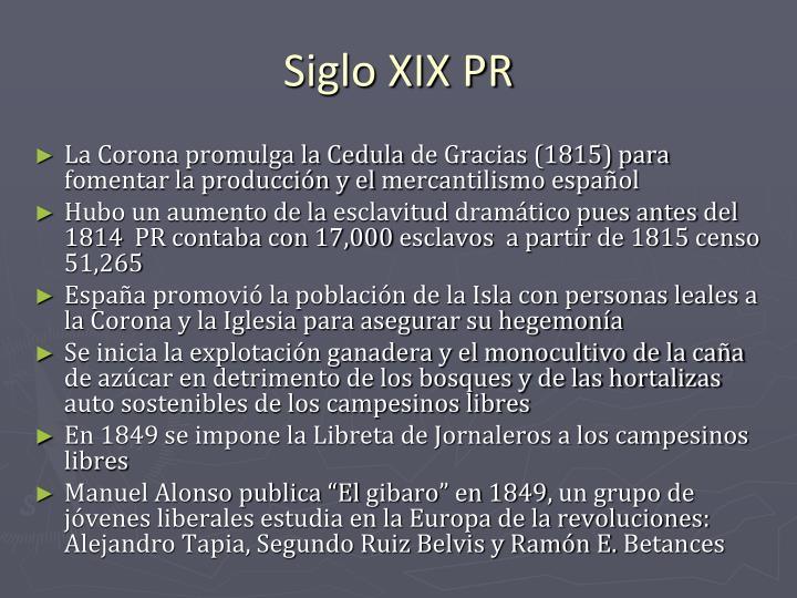 Siglo XIX PR