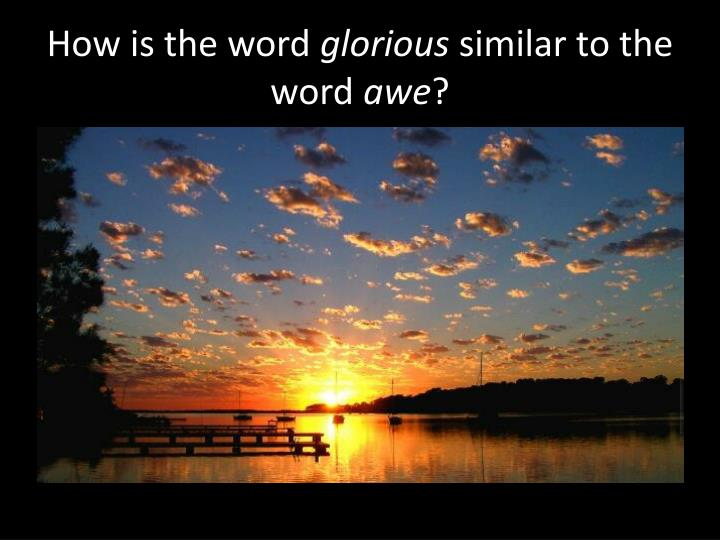 How is the word
