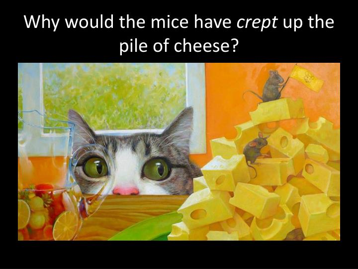Why would the mice have