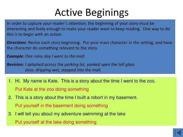 Active Beginings
