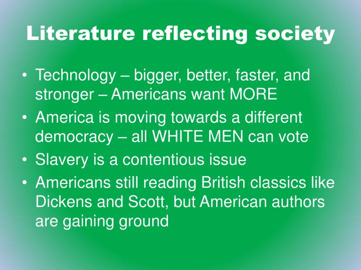 Literature reflecting society