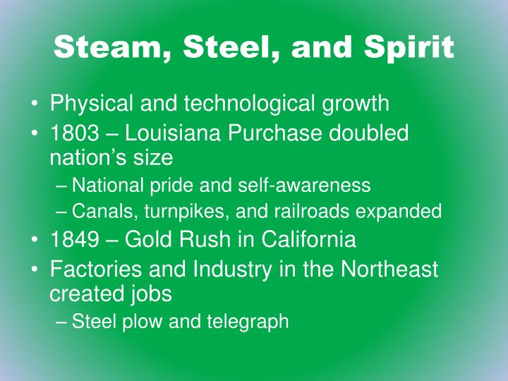 Steam, Steel, and Spirit