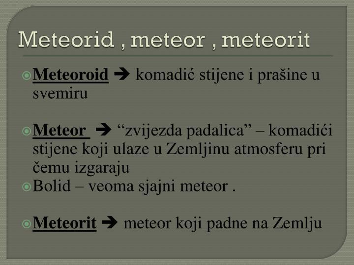 Meteorid