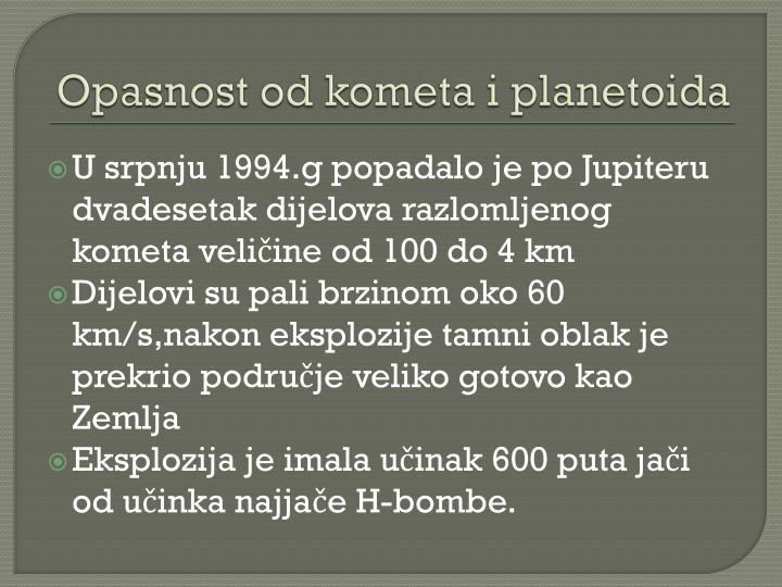 Opasnost od kometa i planetoida