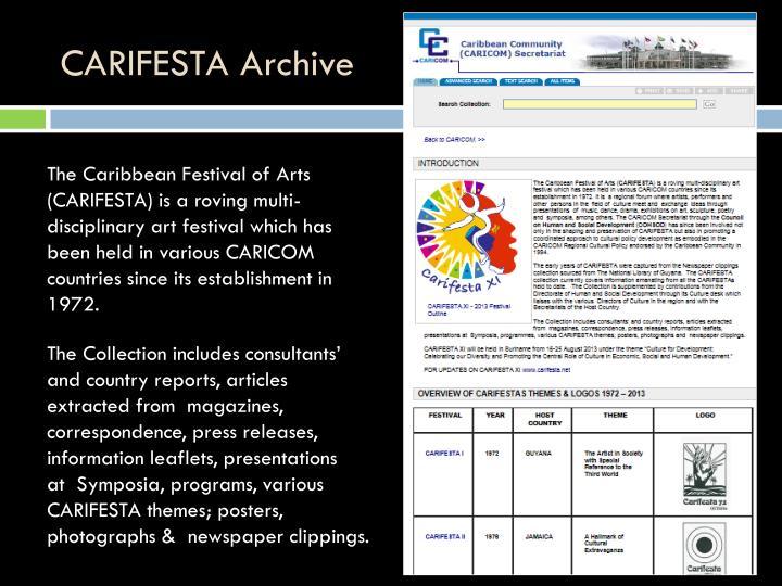 CARIFESTA Archive