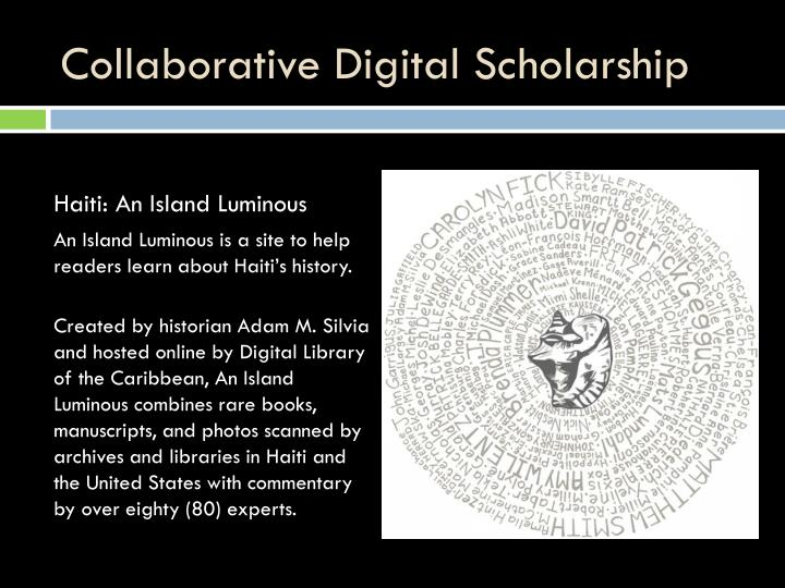 Collaborative Digital Scholarship