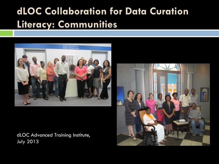 dLOC Collaboration for Data Curation Literacy: