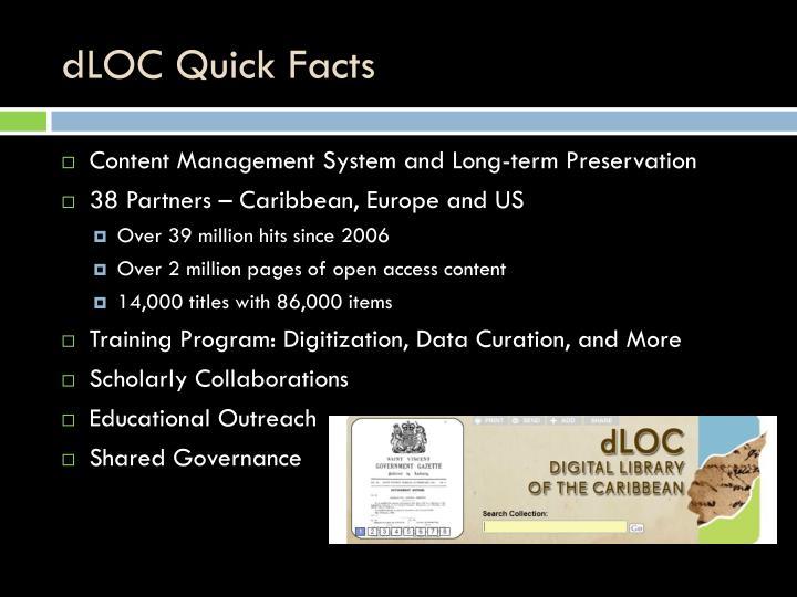 dLOC Quick Facts