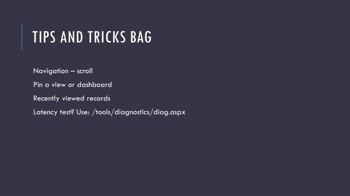 Tips and Tricks Bag