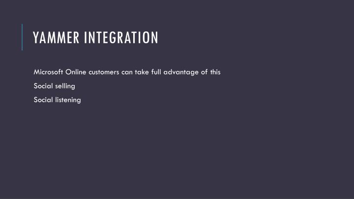 Yammer integration