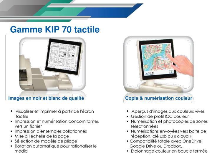 Gamme KIP 70 tactile