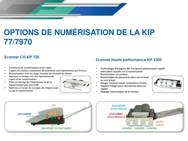 OPTIONS DE NUMÉRISATION DE LA KIP 77/7970