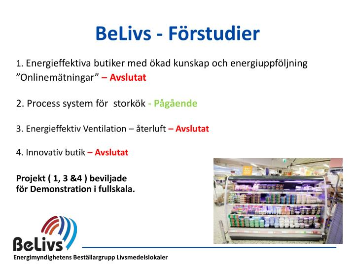 BeLivs - Förstudier