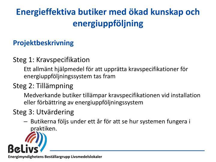 Energieffektiva butiker med ökad kunskap och