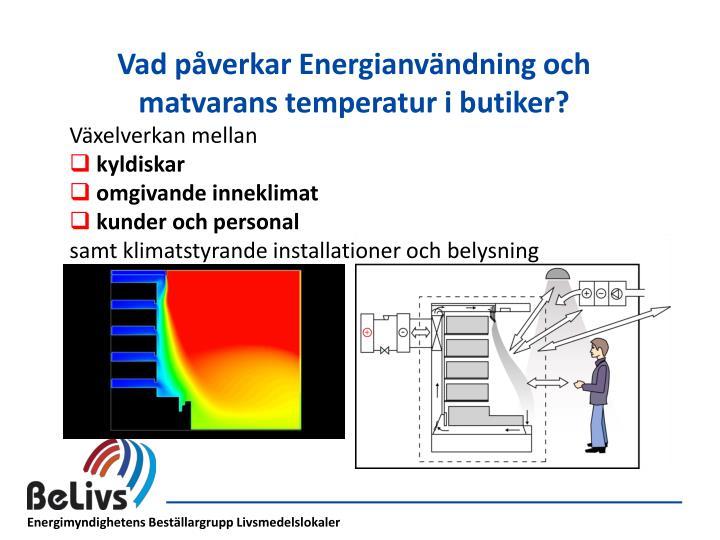 Vad påverkar Energianvändning och matvarans temperatur i butiker?