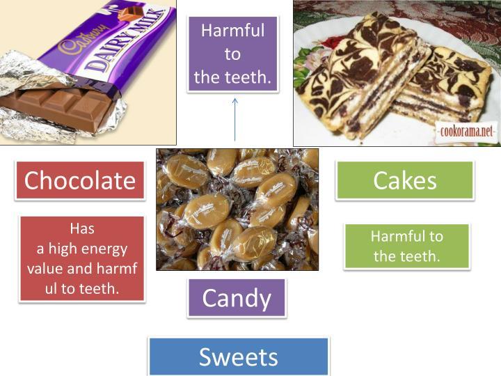 Harmful to theteeth.