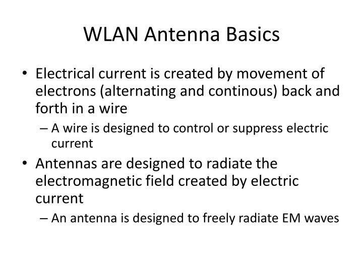Wlan antenna basics