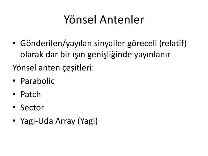 Yönsel Antenler