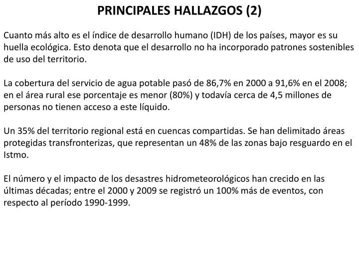PRINCIPALES HALLAZGOS (2)