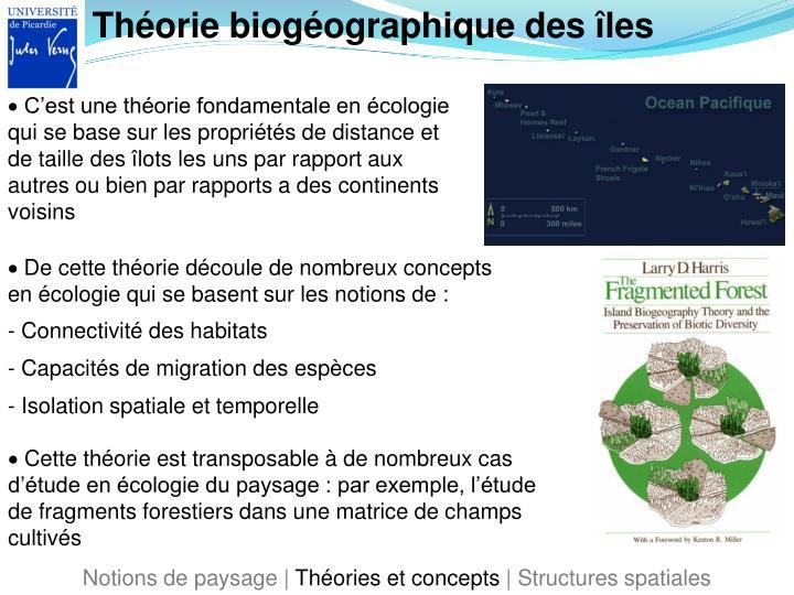 Théorie biogéographique des îles