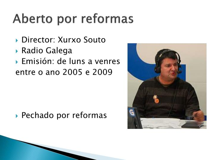 Aberto por reformas