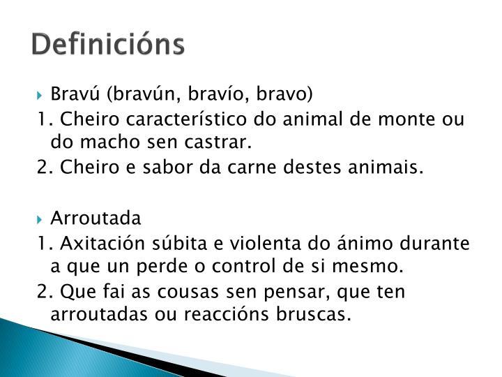 Definicións