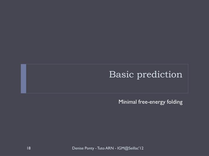 Basic prediction
