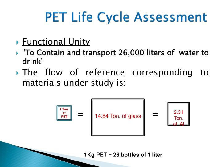 PET Life Cycle Assessment