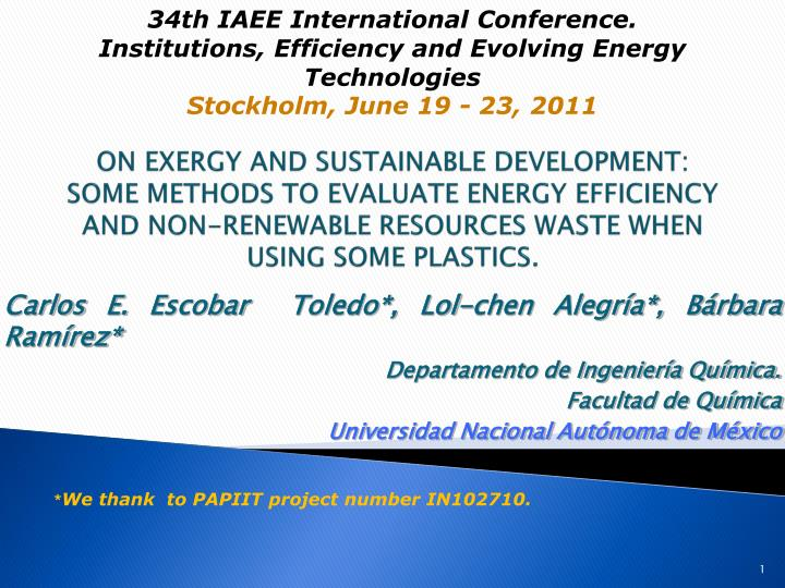 34th IAEE International Conference.