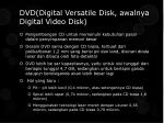 dvd digital versatile disk awalnya digital video disk