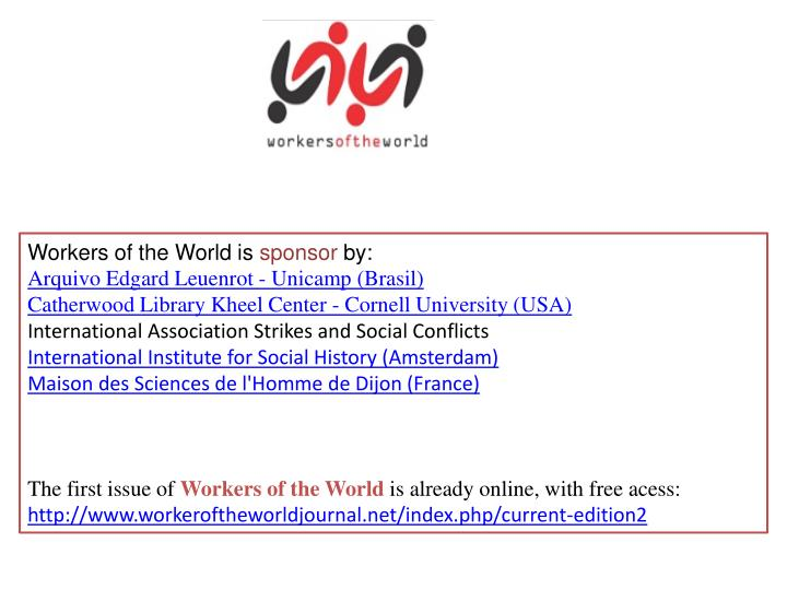 Workers of the World is