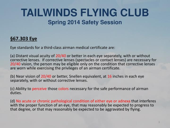 Tailwinds flying club spring 2014 safety session1