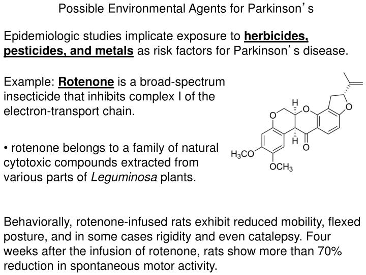 Possible Environmental Agents for Parkinson
