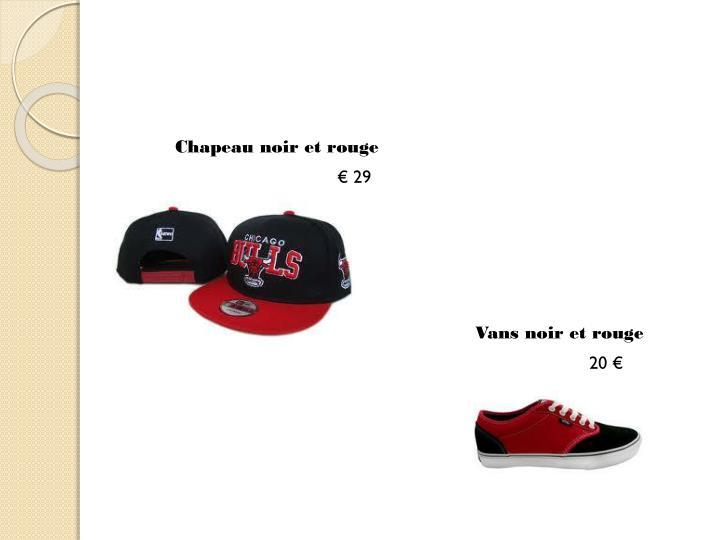 Chapeau noir et rouge