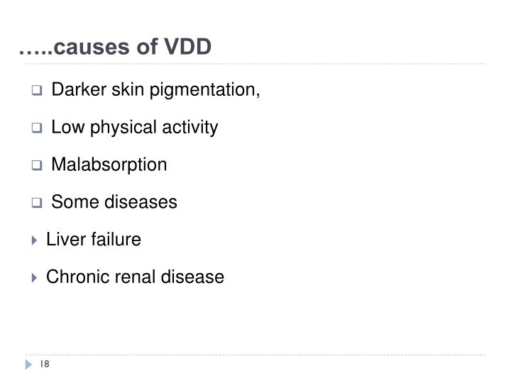 …..causes of VDD