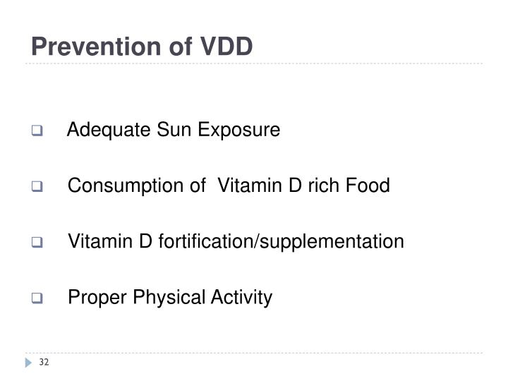 Prevention of VDD