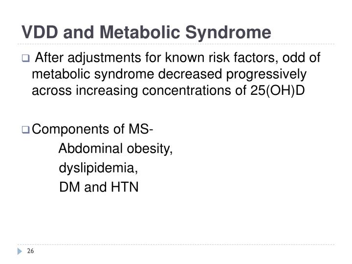 VDD and Metabolic Syndrome