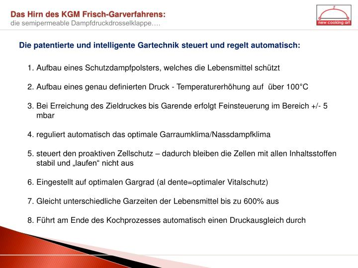 Das Hirn des KGM Frisch-Garverfahrens: