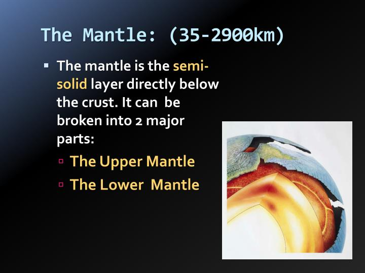 The Mantle: (35-2900km)