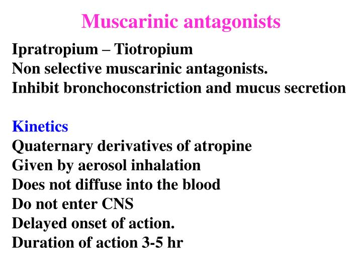 Muscarinic antagonists