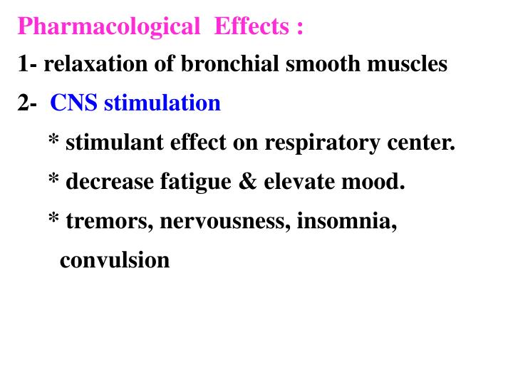 Pharmacological  Effects :