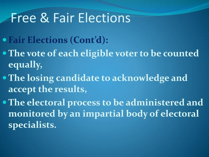 Free & Fair Elections