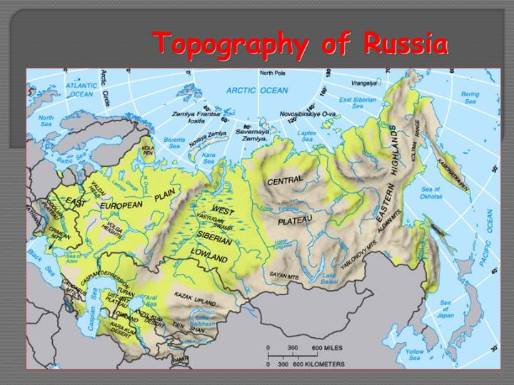Topography of Russia