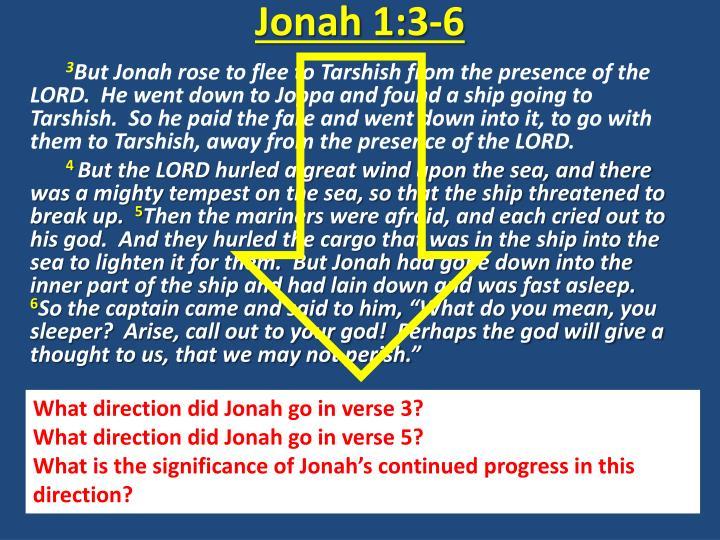 Jonah 1:3-6