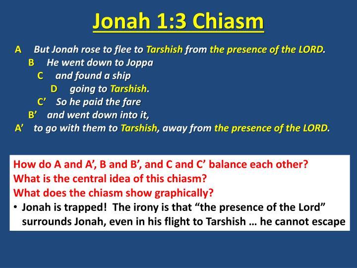 Jonah 1:3 Chiasm