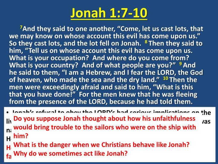 Jonah 1:7-10