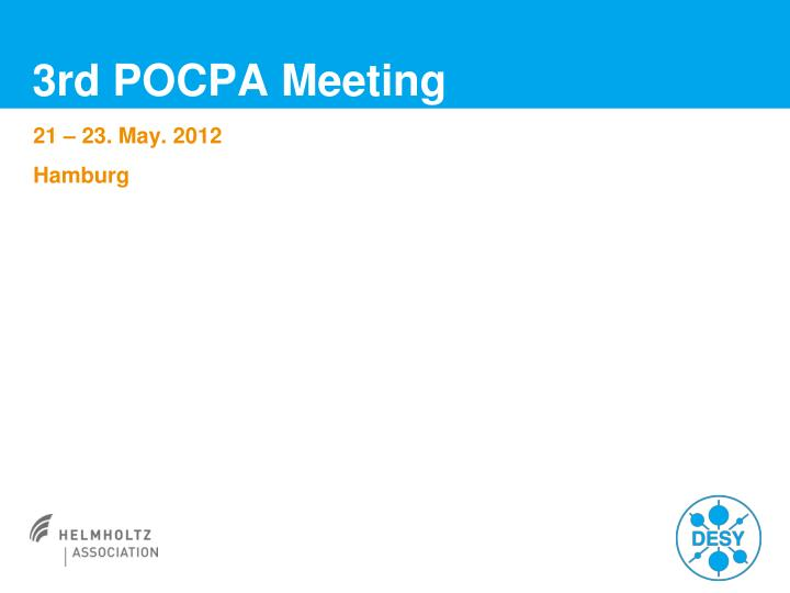 3rd pocpa meeting