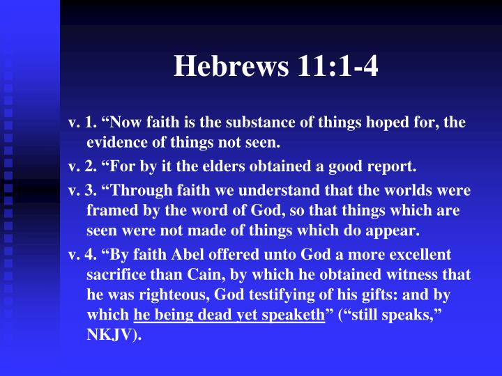 Hebrews 11 1 4